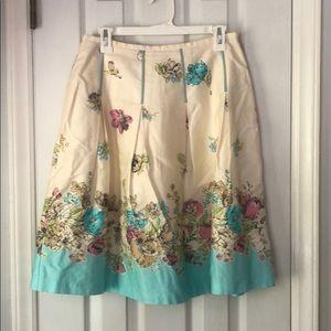 Oscar Spring Floral A-line Skirt - Size 6
